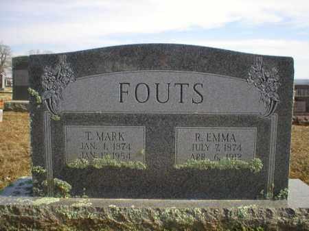 FOUTS, T MARK - Logan County, Arkansas | T MARK FOUTS - Arkansas Gravestone Photos