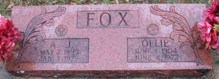 FOX, OLLIE - Logan County, Arkansas   OLLIE FOX - Arkansas Gravestone Photos