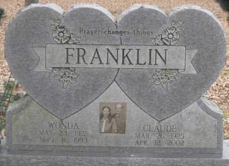 FRANKLIN, CLAUDE - Logan County, Arkansas | CLAUDE FRANKLIN - Arkansas Gravestone Photos