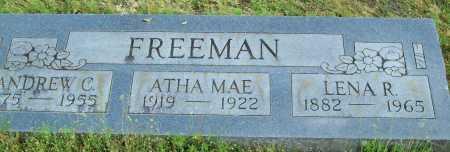 FREEMAN, ANDREW C. - Logan County, Arkansas | ANDREW C. FREEMAN - Arkansas Gravestone Photos