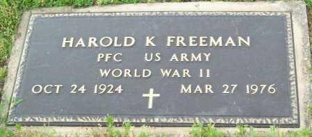 FREEMAN (VETERAN WWII), HAROLD K - Logan County, Arkansas | HAROLD K FREEMAN (VETERAN WWII) - Arkansas Gravestone Photos