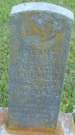 FULMER, INFANT SON - Logan County, Arkansas   INFANT SON FULMER - Arkansas Gravestone Photos
