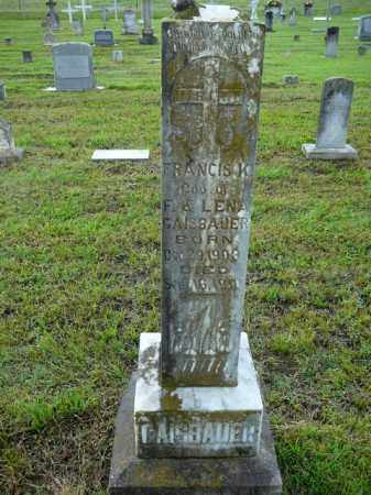 GAISBAUER, FRANCIS - Logan County, Arkansas   FRANCIS GAISBAUER - Arkansas Gravestone Photos