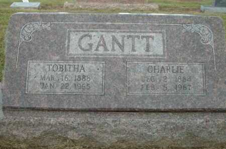 GANTT, CHARLIE - Logan County, Arkansas | CHARLIE GANTT - Arkansas Gravestone Photos