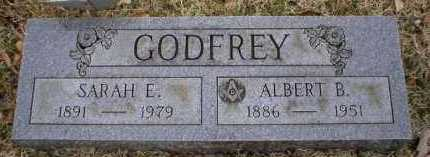GODFREY, SARAH E - Logan County, Arkansas | SARAH E GODFREY - Arkansas Gravestone Photos