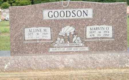 GOODSON, MARVIN O. - Logan County, Arkansas   MARVIN O. GOODSON - Arkansas Gravestone Photos