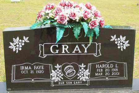 GRAY, HAROLD L. - Logan County, Arkansas | HAROLD L. GRAY - Arkansas Gravestone Photos