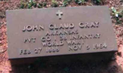 GRAY (VETERAN WWI), JOHN CLAUD - Logan County, Arkansas | JOHN CLAUD GRAY (VETERAN WWI) - Arkansas Gravestone Photos
