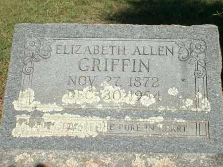 GRIFFIN, ELIZABETH - Logan County, Arkansas   ELIZABETH GRIFFIN - Arkansas Gravestone Photos
