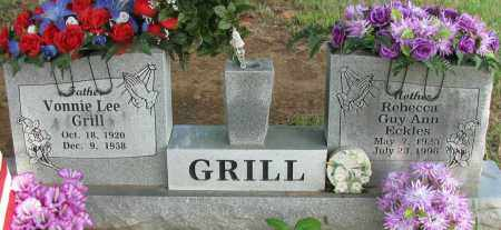 GRILL, REBECCA GUY ANN ECKLES - Logan County, Arkansas | REBECCA GUY ANN ECKLES GRILL - Arkansas Gravestone Photos
