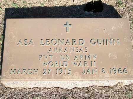 GUINN (VETERAN WWII), ASA LEONARD - Logan County, Arkansas   ASA LEONARD GUINN (VETERAN WWII) - Arkansas Gravestone Photos