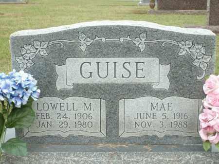 GUISE, MAE - Logan County, Arkansas   MAE GUISE - Arkansas Gravestone Photos