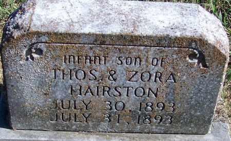 HAIRSTON, INFANT SON - Logan County, Arkansas | INFANT SON HAIRSTON - Arkansas Gravestone Photos