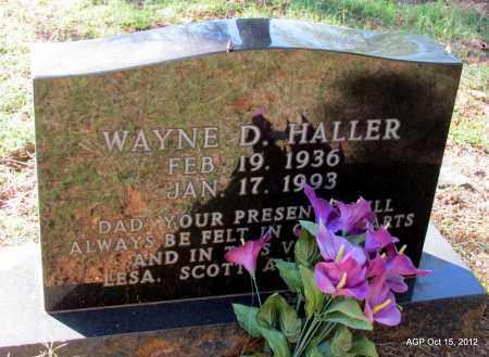 HALLER, WAYNE D - Logan County, Arkansas | WAYNE D HALLER - Arkansas Gravestone Photos