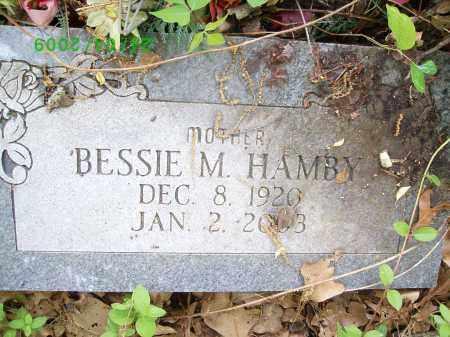 HAMBY, BESSIE M - Logan County, Arkansas | BESSIE M HAMBY - Arkansas Gravestone Photos