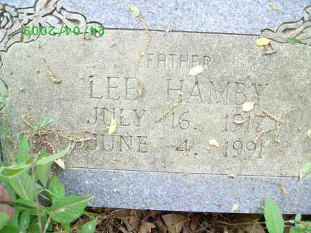 HAMBY, LEE - Logan County, Arkansas | LEE HAMBY - Arkansas Gravestone Photos