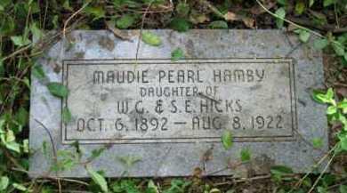 HAMBY, MAUDIE PEARL - Logan County, Arkansas | MAUDIE PEARL HAMBY - Arkansas Gravestone Photos