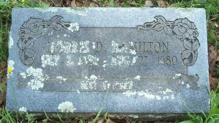 HAMILTON, MORRIS D. - Logan County, Arkansas   MORRIS D. HAMILTON - Arkansas Gravestone Photos