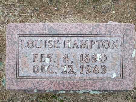 HAMPTON, LOUISE - Logan County, Arkansas | LOUISE HAMPTON - Arkansas Gravestone Photos