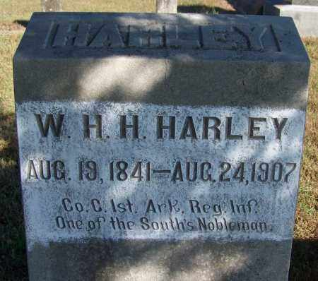HARLEY (VETERAN CSA), W H H - Logan County, Arkansas | W H H HARLEY (VETERAN CSA) - Arkansas Gravestone Photos