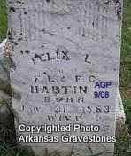 HARTIN, FELIX L - Logan County, Arkansas | FELIX L HARTIN - Arkansas Gravestone Photos