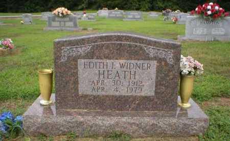 WIDNER HEATH, EDITH I. - Logan County, Arkansas | EDITH I. WIDNER HEATH - Arkansas Gravestone Photos