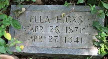 HICKS, ELLA - Logan County, Arkansas | ELLA HICKS - Arkansas Gravestone Photos