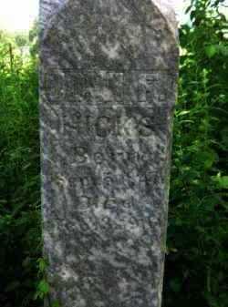 HICKS, JOHN F (CLOSEUP) - Logan County, Arkansas | JOHN F (CLOSEUP) HICKS - Arkansas Gravestone Photos