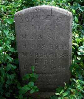 HICKS, JOHNIE E - Logan County, Arkansas | JOHNIE E HICKS - Arkansas Gravestone Photos