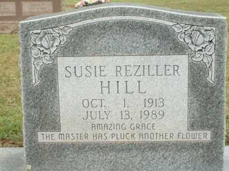 HILL, SUSIE REZILLER - Logan County, Arkansas   SUSIE REZILLER HILL - Arkansas Gravestone Photos