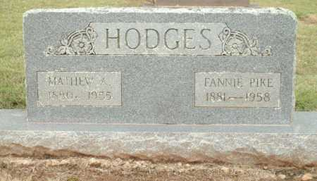 PIKE HODGES, FANNIE - Logan County, Arkansas | FANNIE PIKE HODGES - Arkansas Gravestone Photos
