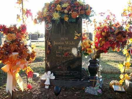 HOGAN, JUSTIN WADE - Logan County, Arkansas | JUSTIN WADE HOGAN - Arkansas Gravestone Photos