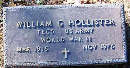 HOLLISTER (VETERAN WWII), WILLIAM G - Logan County, Arkansas | WILLIAM G HOLLISTER (VETERAN WWII) - Arkansas Gravestone Photos