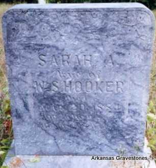 HOOKER, SARAH A - Logan County, Arkansas | SARAH A HOOKER - Arkansas Gravestone Photos