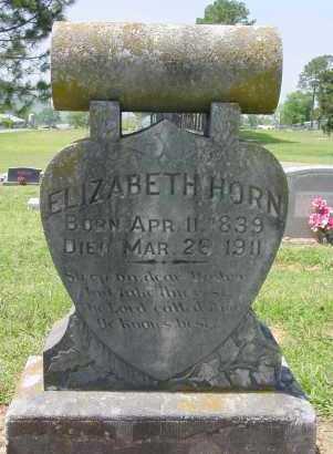 HORN, ELIZABETH - Logan County, Arkansas | ELIZABETH HORN - Arkansas Gravestone Photos