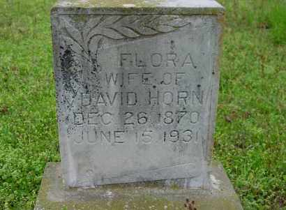 HORN, FLORA A. - Logan County, Arkansas | FLORA A. HORN - Arkansas Gravestone Photos