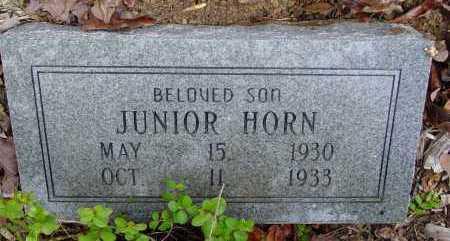 HORN, JUNIOR - Logan County, Arkansas | JUNIOR HORN - Arkansas Gravestone Photos