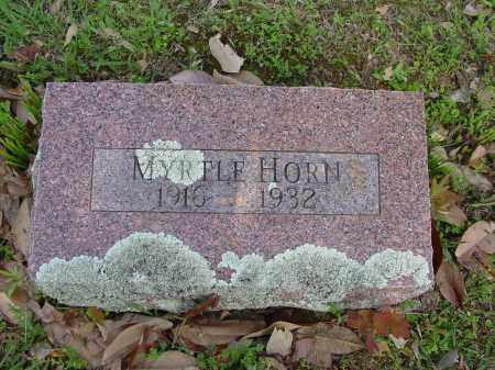 HORN, MYRTLE - Logan County, Arkansas | MYRTLE HORN - Arkansas Gravestone Photos
