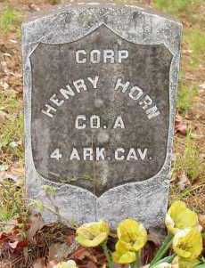 HORN (VETERAN UNION), HENRY - Logan County, Arkansas   HENRY HORN (VETERAN UNION) - Arkansas Gravestone Photos