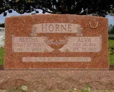 HORNE, BERTHA E. - Logan County, Arkansas | BERTHA E. HORNE - Arkansas Gravestone Photos