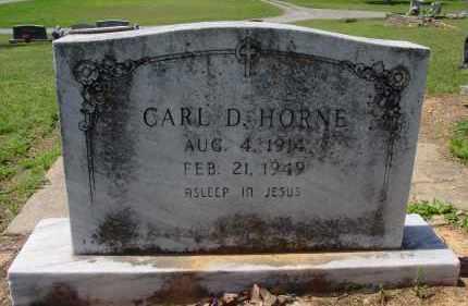 HORNE, CARL D. - Logan County, Arkansas   CARL D. HORNE - Arkansas Gravestone Photos