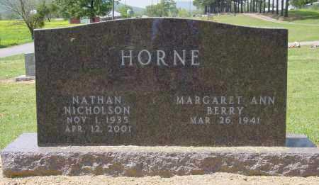 HORNE, NATHAN NICHOLSON - Logan County, Arkansas | NATHAN NICHOLSON HORNE - Arkansas Gravestone Photos