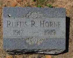 HORNE, RUFUS R - Logan County, Arkansas | RUFUS R HORNE - Arkansas Gravestone Photos