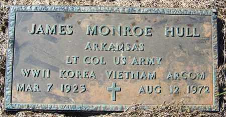 HULL (VETERAN 3 WARS), JAMES MONROE - Logan County, Arkansas   JAMES MONROE HULL (VETERAN 3 WARS) - Arkansas Gravestone Photos