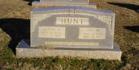 HUNT, GRADIE B. - Logan County, Arkansas | GRADIE B. HUNT - Arkansas Gravestone Photos