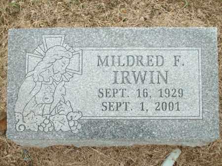 IRWIN, MILDRED F. - Logan County, Arkansas | MILDRED F. IRWIN - Arkansas Gravestone Photos