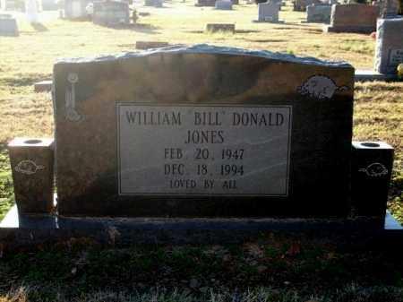 "JONES, WILLIAM ""BILL"" DONALD - Logan County, Arkansas | WILLIAM ""BILL"" DONALD JONES - Arkansas Gravestone Photos"