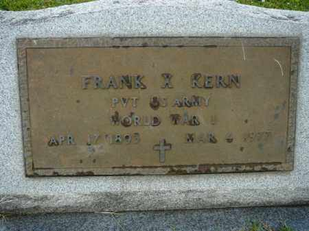 KERN (VETERAN WWI), FRANK X - Logan County, Arkansas | FRANK X KERN (VETERAN WWI) - Arkansas Gravestone Photos