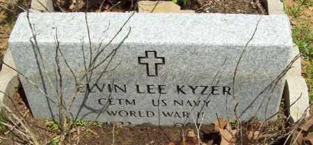 KYZER (VETERAN WWII), ELVIN LEE - Logan County, Arkansas   ELVIN LEE KYZER (VETERAN WWII) - Arkansas Gravestone Photos