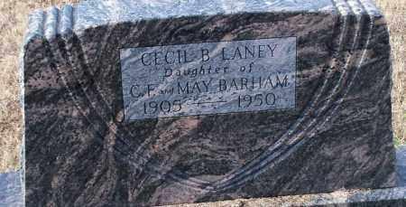 BARHAM LANEY, CECIL B. - Logan County, Arkansas | CECIL B. BARHAM LANEY - Arkansas Gravestone Photos